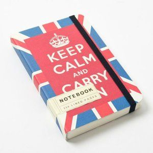 Keep Calm and Carry On Cavallini lined notebook